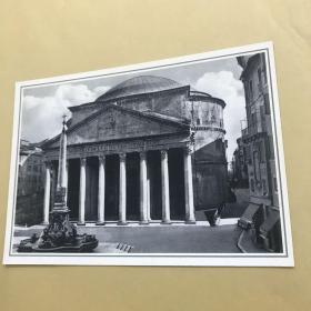 意大利羅馬 萬神殿 明信片。