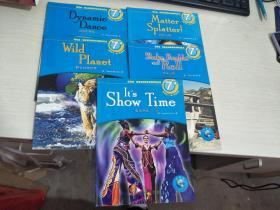 商务馆 网络互动英语分级阅读丛书 7级 -动感的舞蹈 野生动物世界 物质飞溅 地动山摇 演出开始 5册合售【实物拍图,内页干净】