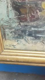 """哈定(1923.9—2004)别名哈弼时,回族,江苏南京人。擅长水彩画、油画。50年代自办""""哈定画室""""。曾任教于上海美术专科学校,现为上海油画雕塑院画师。作品《塞外风光》获第六届全国美展佳作奖。出版有《哈定画选》、《水彩画技法》等。带框"""