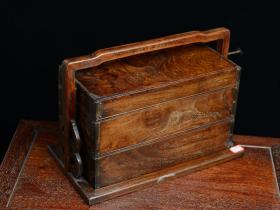 【【【【雅藏】】】】 黄花梨  素面提盒 食盒 收藏品 木质坚硬细腻 纹理清晰漂亮