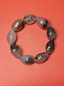 ❤新疆金丝玉草花手串(30241)(kkaw) 天然原石打磨而成,色泽鲜艳,料子细腻。重量:70克。