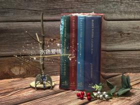 全新稀有绝版线装版2001年西语牙语版哈利波特布面刷金豪华版特别版礼盒 礼盒同样为布面 上端开口抽屉harry potter special edition