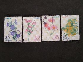 日本邮票(植物/花卉):2011 Flowers 花卉 4枚