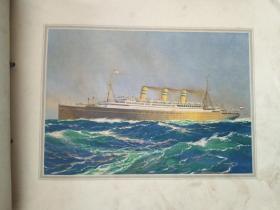 荷美邮轮公司20世纪初期S.S.STATENDAM号游轮装潢画册