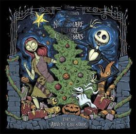 Disney Tim Burton's The Nightmare Before Christmas Pop-Up Book and Advent Calendar-立体书,迪斯尼蒂姆·伯顿的《圣诞前的噩梦》一书和《降临日历》