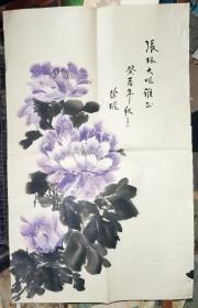 徐枫水墨牡丹[张林大姐雅正 癸酉年秋月 徐枫]     44×85.5厘米
