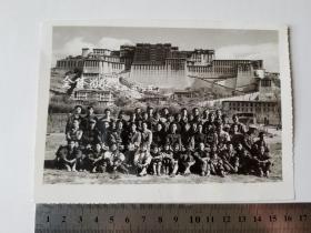 西藏秦剧团合影照片等 三张