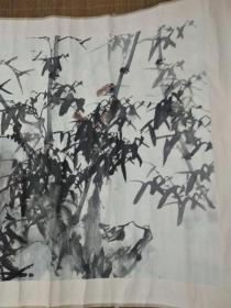 高发传先生画——名园依绿水,野竹上青霄