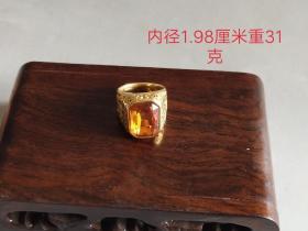 老凤祥18k金宝石戒指