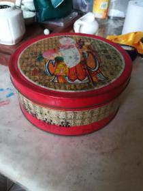 漂亮60年代壽星百壽字禮品盒,19*19*8cm,表面略有銹跡