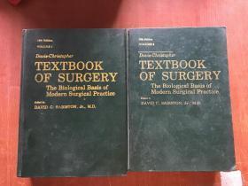davis christopher textbook of surgery12th Edinon VOLUME1/2克氏外科学[现代外科实践的生物学基础]英文版第12版第1/2卷(2本合售)精装