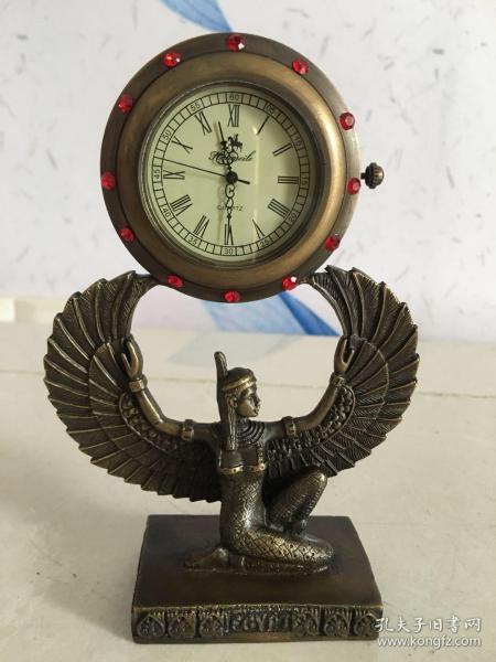 西洋純銅鑲嵌寶石小座鐘!經典漂亮!