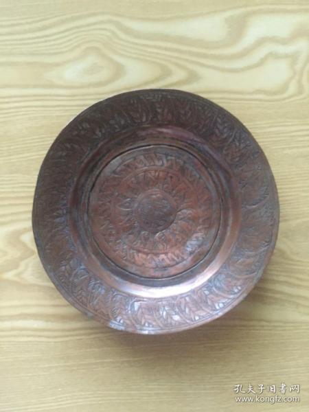 銅錯銀盤(全手工)