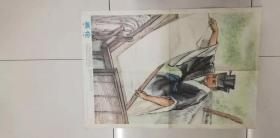 教學掛圖——中國歷史教學圖片.蔡倫(嚴國基、徐志文、陸一飛畫)