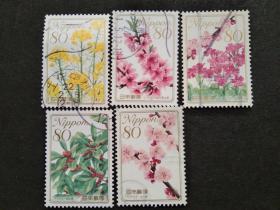 日本邮票(植物/花卉):2009 Flowers 花卉1套5枚
