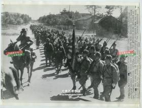1941年日军入侵湖南长沙,第二次长沙会战,美联社新闻传真照片一张,26.9X20.3