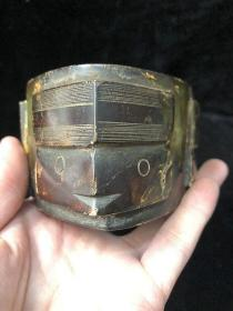 史前红山良渚文化古玉老玉高古玉器三角形玉琮礼器摆件重736克