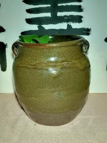 老窑瓷器 清代茶叶沫釉四系罐 釉水发色一级棒  本交易仅支持、邮寄
