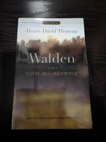 Walden and Civil Disobedience,瓦尔登湖英文版,封面有勒痕,无笔记无划线,包邮