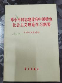 邓小平同志建设有中国特殊社会主义理论学习刚要