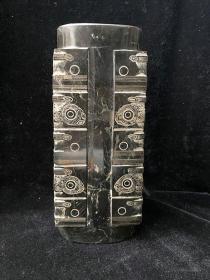 古玩古董玉器高古玉器史前红山良渚文化兽面纹玉棕大摆件