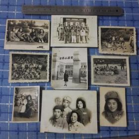 一组五十年代山西太原育英小学老照片