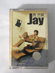 周杰伦磁带 同名专辑jay 正版标 低价转让