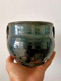 明代山西老窑瓷器,黑釉四系罐,黑美人,蜡泪痕明显,釉水肥厚。 三晋窑火,山西文化。 本交易仅支持、邮寄
