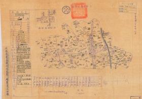 民国三十五年(1946年)《获嘉县老地图》图题为《获嘉县图》(原图高清复制)(民国新乡获嘉县老地图、获嘉县地图、获嘉地图)年代准确,绘制详细。左侧附县治资料,内容丰富,请看获嘉县甲级壮丁人数。附县城区图。获嘉县地理地名历史变迁重要史料。裱框后,风貌佳。