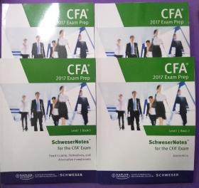 CFA 2017 Exam Prep [BOOK 1.2.4.5] 四册同售【品相完美】