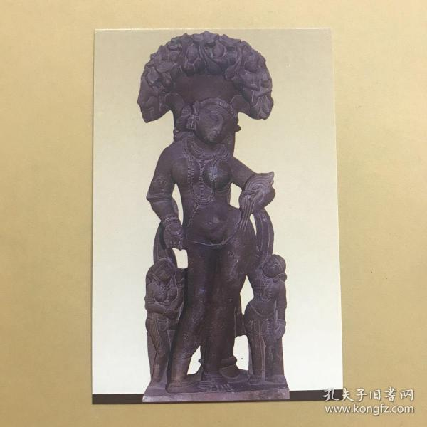 印度博物館 Khajuraho 卡朱拉霍 DISHEVELLED LADY明信片。