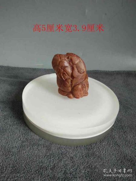 清代傳世老琥珀雕件
