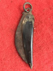 清代牛角魚刀,保存完整包漿渾厚全品包老