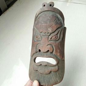 老竹雕,脸谱面具,老臂隔,老财神,老物件,保老