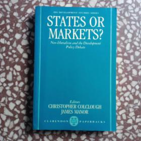 lds development studies serles states or markets? neo-liberalism and tbe deuelopment policy debate