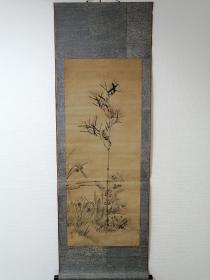 椿椿山 写意花鸟 清代 日本回流字画 古画