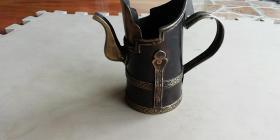 清代蒙古国宴酒具 手工打制 红铜黄铜质地