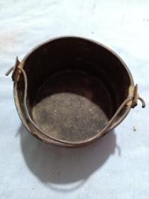 (箱14)民國二戰時期  小桶型飯盒,14*10cm