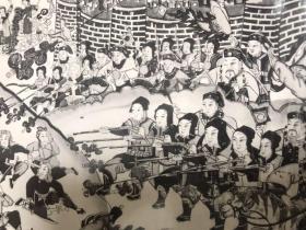 北京老照片《北京炮打西什库》一张,木版年画。