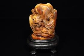寿山石雕刻人物印章