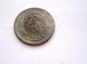 钱币  民国纪念币 一面是马 背面是花 直径3CM
