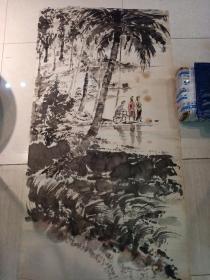 无款画(130 x 66)