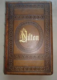 1860年The Poetical Works of John Milton 《弥尔顿诗全集》全小牛皮双面满堂烫金豪华古董书2册合订一册 大量原品钢版画插图 大字体大开本 品相上佳 增补彩图