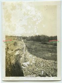 民国时期上海嘉定残破的城墙老照片