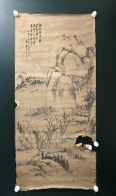 日本回流字画 软片   4562   4563   明治时期山水2幅