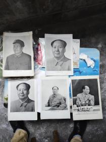 毛主席不同五张宣传画