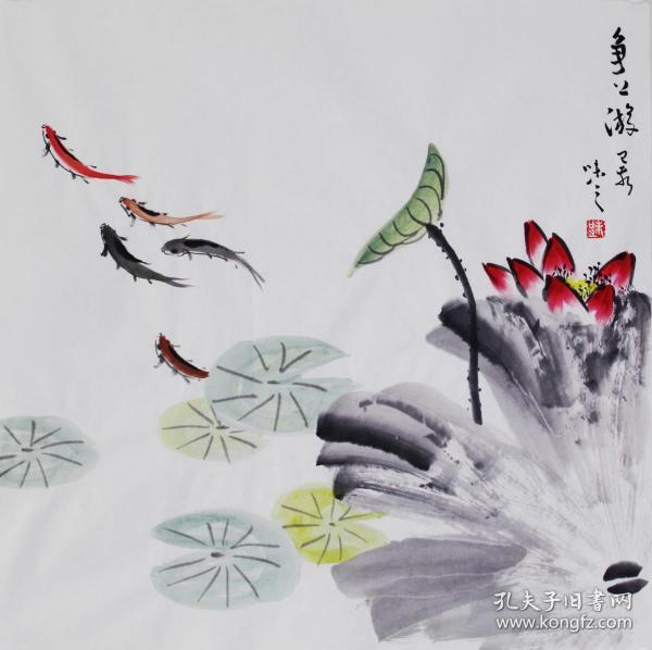 【自写自销】当代艺术家协会副主席王丞手绘 争上游19228