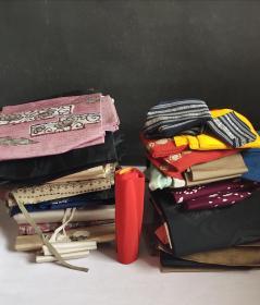 回流和服腰带三十四根合拍(各种布料,有印花有手工绣花)(日本回流)