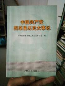 中国共产党固原县历史大事记