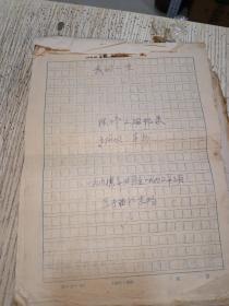 手写稿本陈修文自传,大型猪场的经营管理,广西畜牧兽医(1厚册写满)I6开